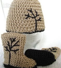 $enCountryForm.capitalKeyWord Canada - 20% off *Baby Handmade Crochet Gray Warm Winter Beanie & Booties First Walker Shoes Boots Grass