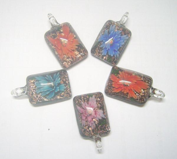 10st / multicolor murano lampwork glas hängsmycken för DIY mode hantverk smycken present halsband hängsmycke pg16