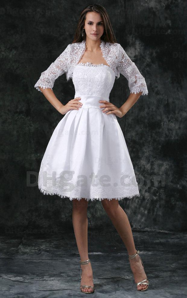 모조리! 고품질 레이스 원단 짧은 페르시 웨딩 드레스 2021 신부 드레스와 자켓 WD063
