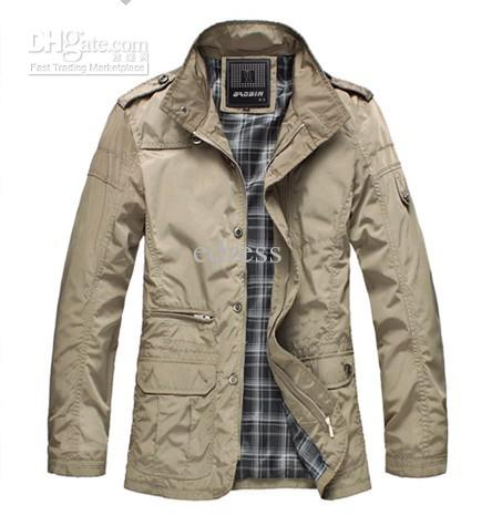 2012 New Mens Jackets Stand Collar Medium Long Casual Slim Stylish ...