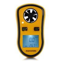 anemómetro al por mayor-Termómetro digital del medidor de velocidad del viento del anemómetro