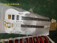 Wholesale customize bass guitar online - CHINA CUSTOMIZE GUITAR amp BASS Double Neck white body strings
