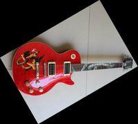 Wholesale Guitar Custon - Custon shop slash Snake inlay fret board red electric guitar made in china guitar 08 10