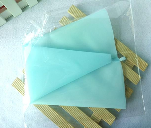 Décoration de gâteau de sachet de crème pâtissière de glaçage de silicone de longueur de 34cm