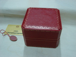 Wholesale Square Red Box Watch Papers - square red leather box for san tos watches booklet card tags and papers in english