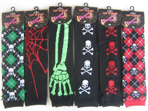10 Paar Arm Warmer Mode Lange Handschuhe Schädel