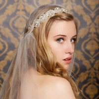 Wholesale Two Crystal Headbands - Free Shipping New Fashion Free Shipping Two Way also can use as Sash Crystal Spakle Wedding Bridal Accessory Crystal Beaded Luxury Hairband