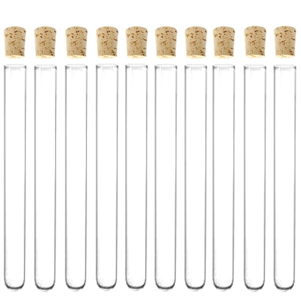 top popular Send From US Laboratory 6-inch, 16x150mm 3.3 Borosilicate Glass Test Tubes with Cork Stoppers 20ml -Pack Of 50 2021