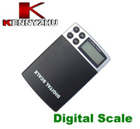 Wholesale Digital Pocket Scale 1kg - Free DHL Pocket Digital Electronic Jewelry Kitchen Balance Scale Blue Lcd Backlight Display 0.1g x 1000g Weighing Scales 1KG High Quality