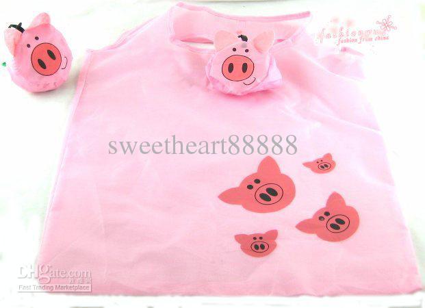 MIC 12styles New Cute Useful Animal Bee Panda Pig Dog Rabbit Foldable Eco Reusable Shopping Bags 12Styles