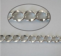 Wholesale Chains Meters Gold - FREE SHIPPING 10 meters mixed white gold plate metal chains