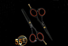 Wholesale Toni guy Hair Scissors Barber Scissors JP440C Shear Cutting and Thinning Scissor Black INCH