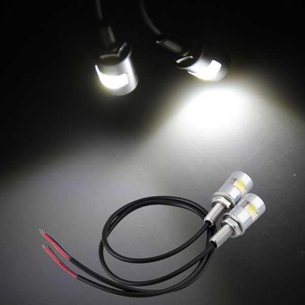/ Fahrrad-Fahrrad-LED-Kfz-Kennzeichen-Bolzen-Licht-Weiß 1LED 5730SMD Plattenlicht Freies Verschiffen