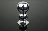 секс с двумя шарами оптовых-Solid Double Balls Нержавеющая сталь Анальная пробка Пуля Пуля игрушки для взрослых Секс игры