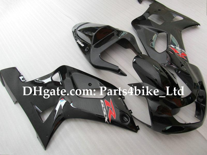 kit de carenado para SUZUKI GSXR 600 750 K1 2001 2002 2003 GSXR600 GSXR750 GSX-R600 01 02 03 negro brillante