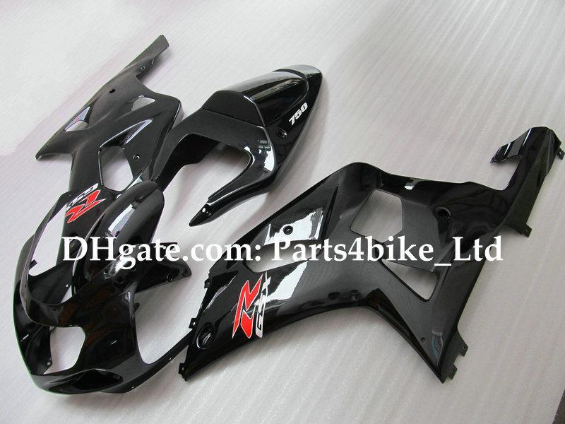 kit de carenagem para SUZUKI GSXR 600 750 K1 2001 2002 2003 GSXR600 GSXR750 GSX-R600 01 02 03 preto brilhante
