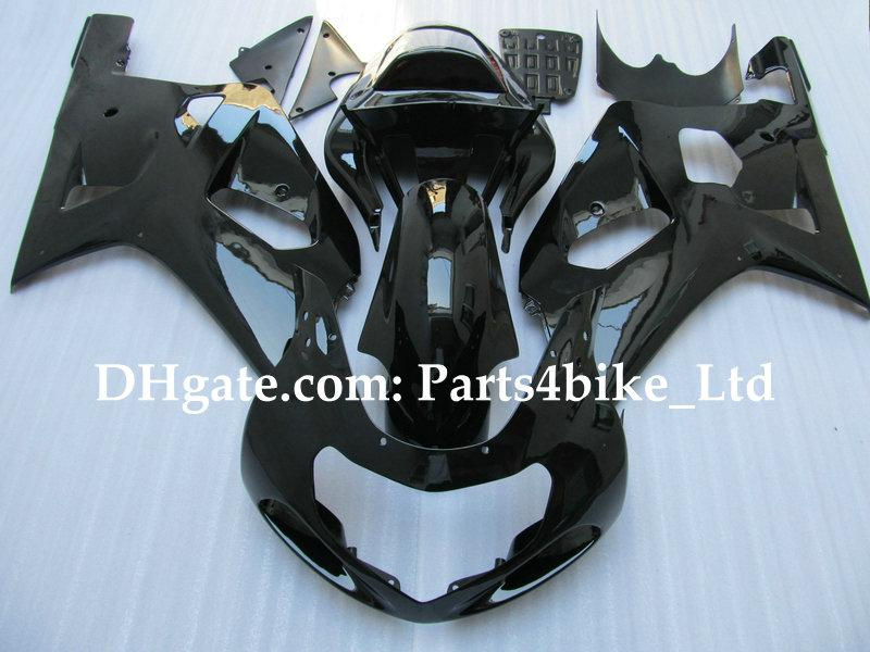kit de carénage tout noir noir pour SUZUKI GSXR 600 750 K1 2001 2002 2003 GSXR600 GSX R750 R600 01 02 03