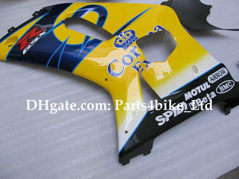Corona personalizada para SUZUKI K1 2001 2002 2003 GSXR 600 750 GSXR600 GSX R750 R600 01 02 03 kit de carenagens