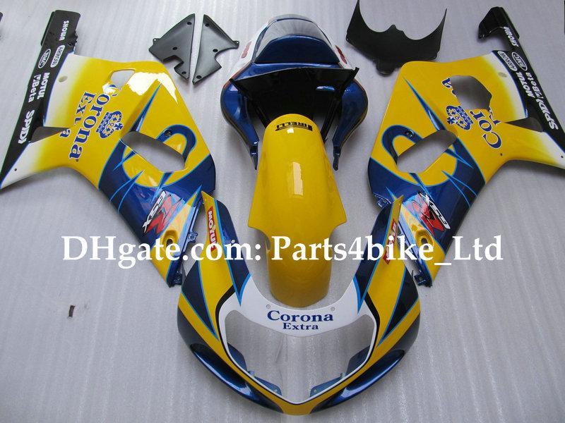 Corona custom pour SUZUKI K1 2001 2002 2003 GSXR 600 750 GSXR600 GSX R750 R600 01 02 03 Kit de carénages