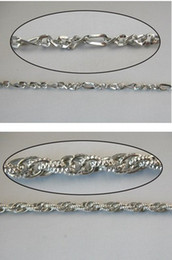 Wholesale Chains Meters Gold - 10 METERS MIXED WHITE GOLD PLATE TEXTURED ROPE METAL CHAIN