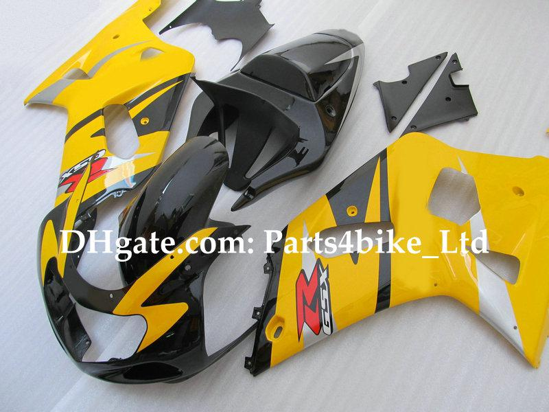 Custom Yellow Racing Fairing K1 2001 2002 2003 Suzuki GSXR 600 750 GSXR600 GSX-R750 / R600 01 02 03