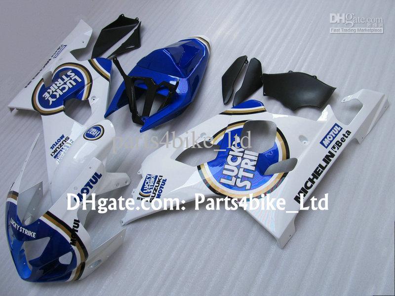 Blue LUCKY STRIKE Körper für 2004 2005 SUZUKI GSXR 600 750 K4 GSXR600 GSXR750 04 05 GSX R600 Verkleidungen