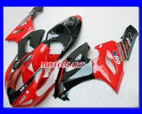 zx6r schwarz rot großhandel-Verkleidungskit für KAWASAKI Ninja ZX6R 05 06 ZX-6R 636 ZX 6R 2005 2006 Verkleidungsset
