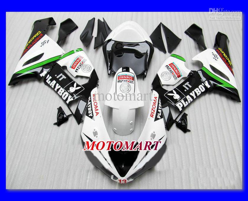 weiß schwarz Verkleidung KIT für KAWASAKI Ninja ZX6R 05 06 ZX-6R 2005-2006 636 ZX 6R 05 06 2005 2006