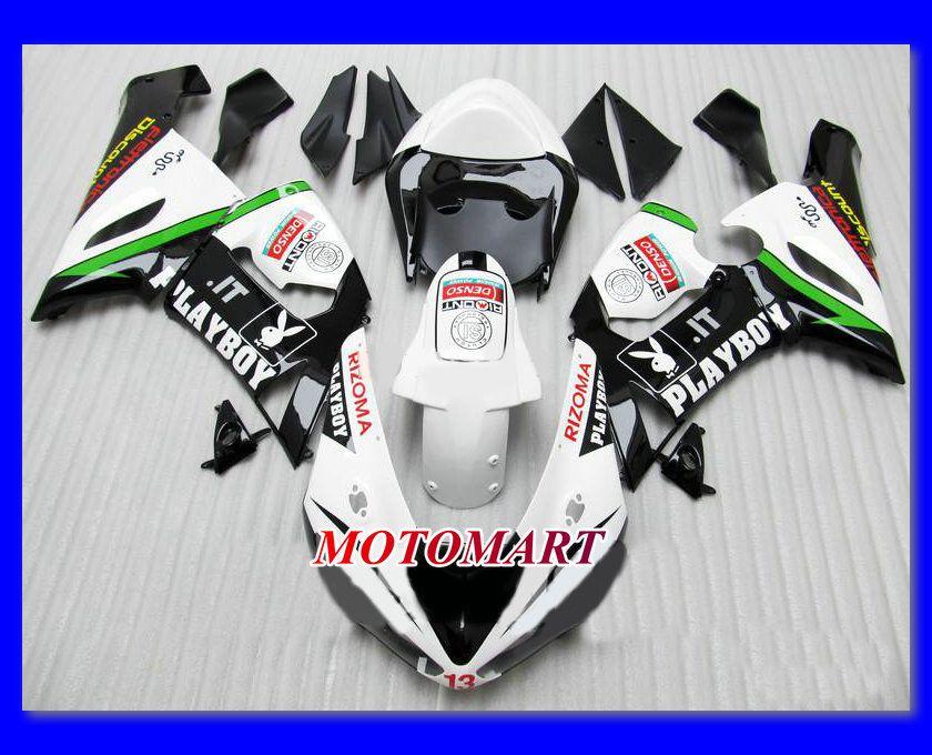 White Black Fairing Kit voor Kawasaki Ninja ZX6R 05 06 ZX-6R 2005-2006 636 ZX 6R 05 06 2005 2006