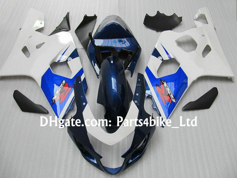 kit de carenagem de ABS azul branco para SUZUKI 2004 2005 GSXR 600 750 K4 GSXR600 R750 04 05 peças de moto