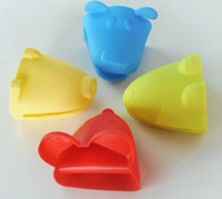 oven knobs - Animal shaped silicone Oven mitt Pot Holder Potholder Pliable Glove colorful