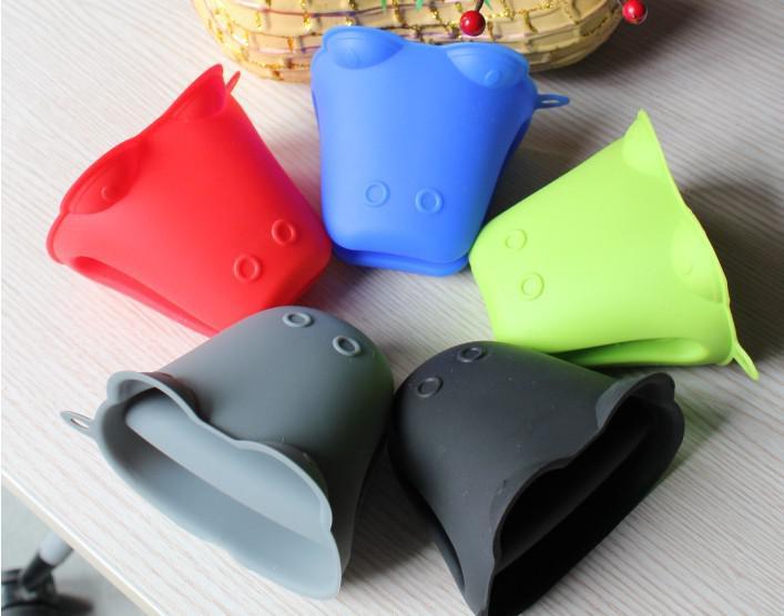 Forme de l'animal silicone gant pliable gant de four pot mitre pot coloré