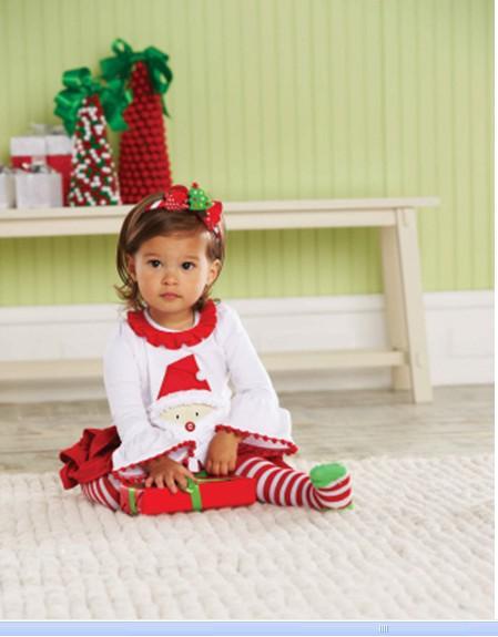 2017 Christmas Santa Tunic Tab Skirt Set Mud Pie Baby Infant Girls ...