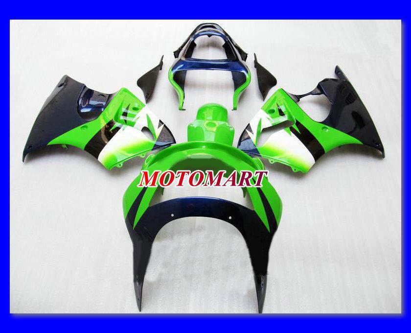 Grön Full Fairing Kit för Kawasaki Ninja ZX9R 98 99 ZX-9R 1998 1999 ZX 9R 98 99 1998 1999