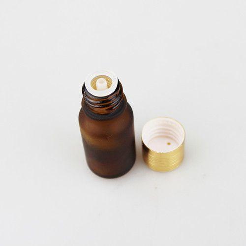 50 Pçs / lote Garrafa de Vidro Âmbar Garrafa de Óleo Essencial Garrafa de Perfume Net 27 g 10 ml