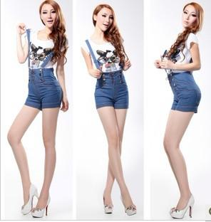 Wholesale Women High Waist Braces Shorts.By Dhl Thongs Suspenders ...