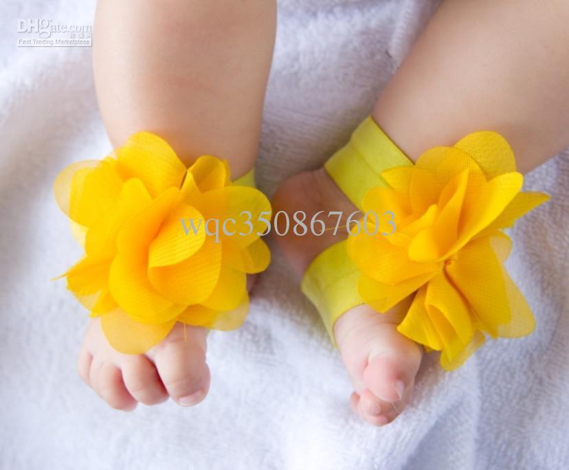 20 쌍 유아 아기 맨발 양말 샌들 신발 어린이 발 장식품 유아 꽃 양말