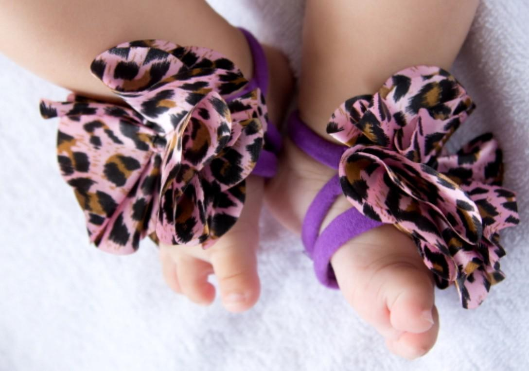 Hot! Toddler Baby Barefoot Flower Socks Sandals Shoes Infant Children Rose Foot Ornaments
