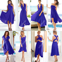 black tea varieties - Royal Blue Convertible Bridesmaids Party Dress Suzhou One Dress Wearing In Many Styles Variety Skirt
