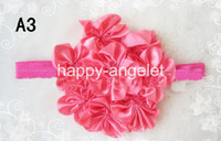 Wholesale Luxurious Baby Headband - Luxurious Top petti skirt flowers Stretchy Shimmery Baby Headbands,Hair Bands 50 pcs popular &B-t3