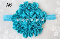 Wholesale Luxurious Baby Headband - Luxurious Top petti skirt flowers Stretchy Shimmery Baby Headbands,Hair Bands 80 pcs popular &B-t6