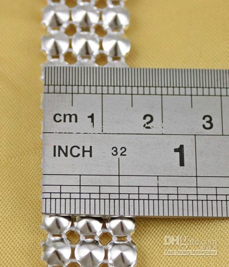 Yeni MIC 1 Yard 3 Satırlar Temizle Kristal Rhinestone Şerit Elmas Inci Sarar Dikiş Craft Kek Aralık Düğün Malzemeleri