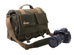 Wholesale Fashion Slr Bag - Eirmai SLR Camera Bag M Size Coffee fashion shoulder bag EMB-SS05 Waterproof Size 30cmX13cmX25cm(M)