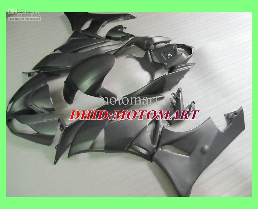 Complete Flat Black Fairing Kit voor Kawasaki Ninja ZX6R 09 10 ZX-6R 2009-2010 ZX 6R 09 10 2009 2010