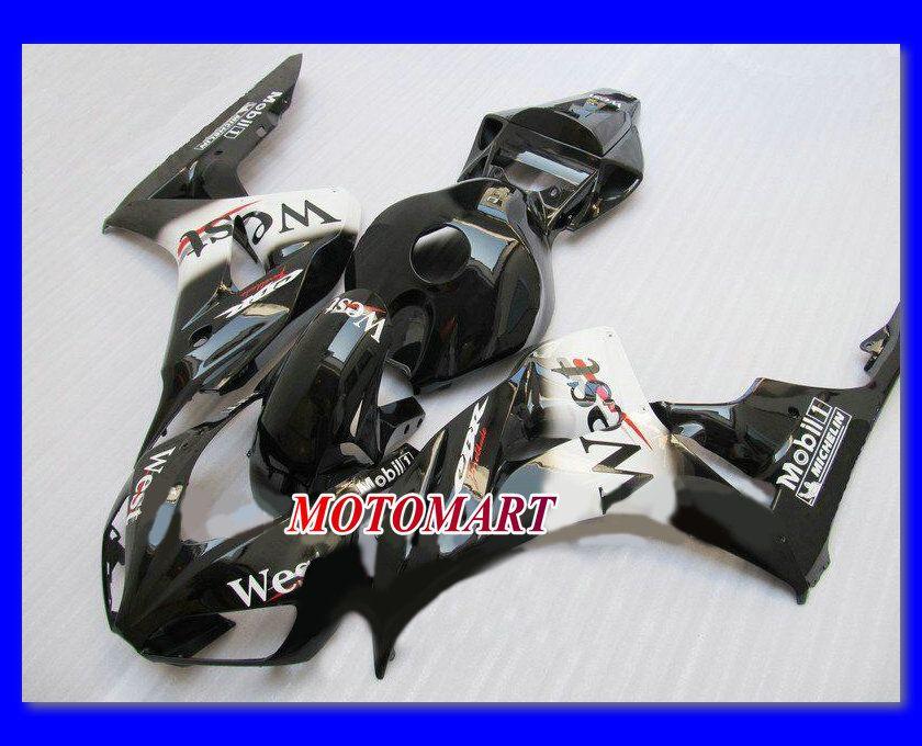 WEST 광택 검정색 사출 금형 호닝 용 CBR1000RR 06 07 CBR 1000RR 2006 2007 CBR 1000 RR 06 07