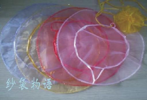 FreeShip 300 stücke Große 35 cm Durchmesser Organza Runde Plain Schmuck Taschen Hochzeit Süßigkeiten Geschenk-taschen