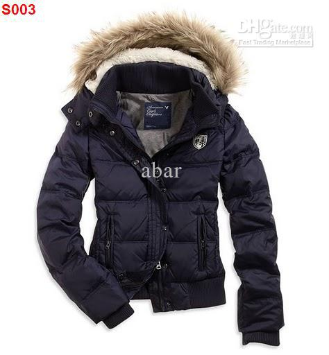 2013 New AE Womens White HOODED PUFFER Coat Jacket White WOmens down coats