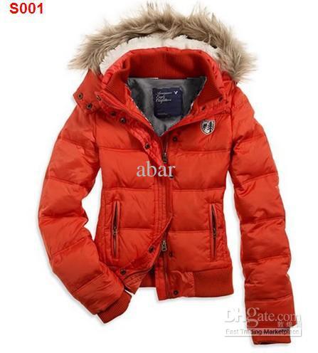 2017 Nwt Ae Womens Orange Hooded Puffer Coat Jacket Womens Down ...