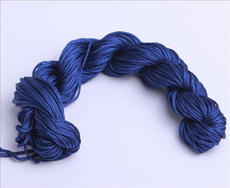 Billiga och högkvalitativa 12rolls DIY 1.0mm nylonkabel tråd Kinesisk knut Macrame Bracele U Choice