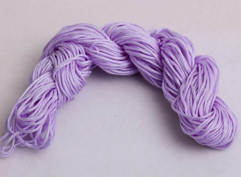 1.0 ملليمتر shamballa النايلون الحبل الموضوع الصينية عقدة مكرميه bracele 32 لفة